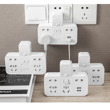 Smart Socket Timing Energy Saver Snel Opladen Usb 220V Cn Plug Power Strip Overstroombeveiliging Muur Uitbreiding Socket