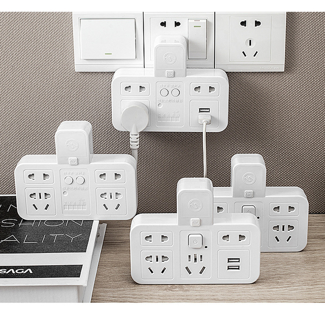 Smart socket timing energy saver quick charge USB 220V CN plug power strip overcurrent  protection wall extension socket