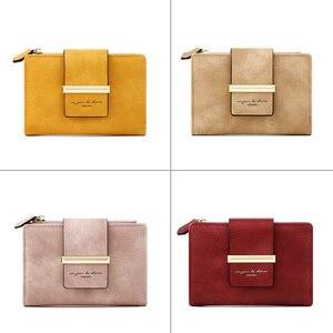 Image 5 - 2020 ใหม่สตรีสั้นกระเป๋าสตางค์สุภาพสตรีกระเป๋าเงินขนาดเล็ก Bifold กระเป๋าสตางค์ซิปกระเป๋าสำหรับหญิงสีเหลือง