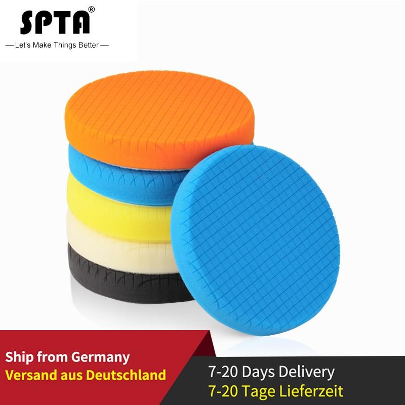 SPTA 3.5Inch(90mm)/5.5Inch(135mm)/6.5Inches(165mm) Buffing Pads Polishing Pads For 3Inch/5Inch/6Inch DA/RO/GA Car Polisher