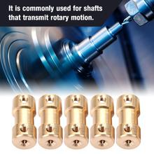 цена на Shaft Coupler 5Pcs Motor Copper Shaft Coupling Coupler Motor Shaft Coupler Connector Sleeve Transfer Joint Adapter
