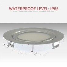 Aço inoxidável led mini spotlight ip65 dc12v à prova dwaterproof água downlight banheiro teto escondido ultra-fino lâmpadas de iluminação do armário