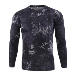 Men Quick Dry Tactical Camouflage T-shirt Breathable Casual O-Neck Long Sleeve Military Shirt Combat Camo Army T Shirts S-3XL