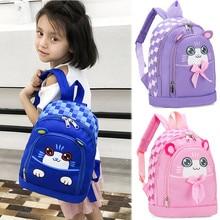 Student Boys&Girls Kids Cartoon Cat Animal Backpack Toddler School Bag