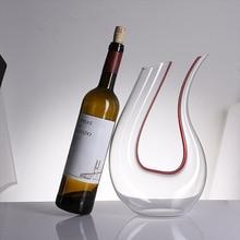 1500 мл Большой Графин ручной работы кристалл красное вино бренди бокалы для шампанского бутылка-декантер кувшин аэратор для семейного бара