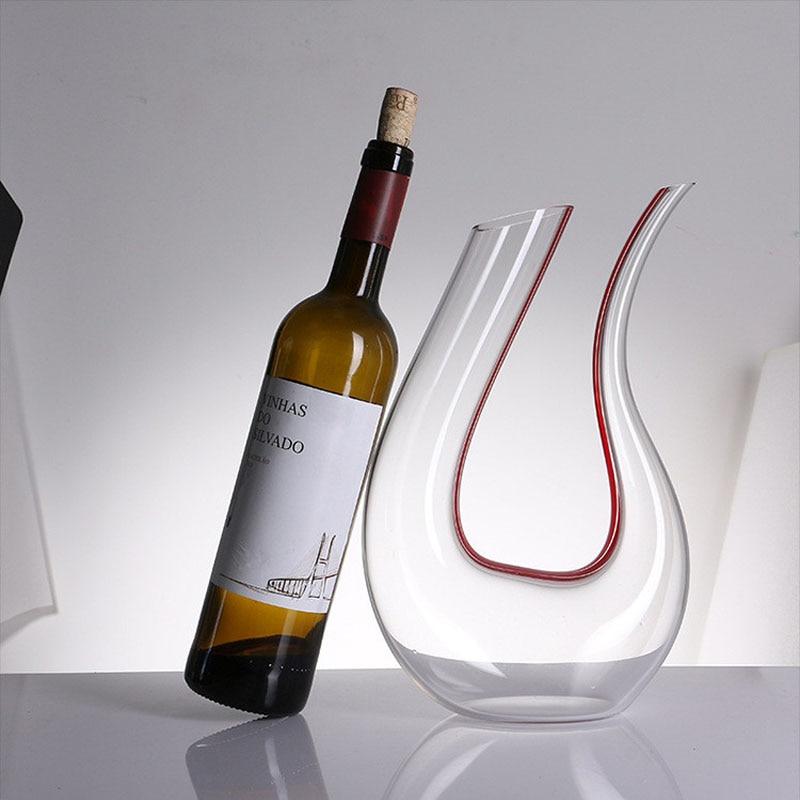 1500ML de Conhaque Taças de champanhe Grande Artesanal de Cristal Vinho Tinto Decanter Pourer Aerador Decanter Garrafa Jarro Para A Família Bar