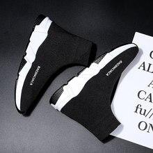 Zapatos de calcetín originales para hombre y mujer, zapatillas deportivas de entrenamiento de velocidad, informales, color negro y rojo, 45, 2021