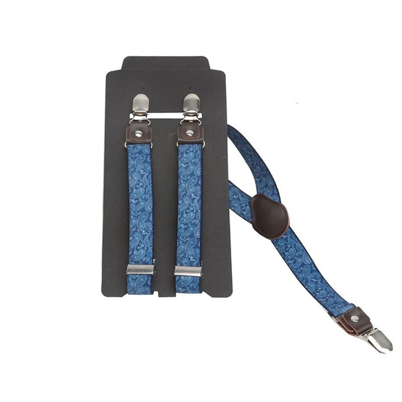 2.5cm Width Kids Elastic Suspenders Unisex Boy Girl Cashew Print Children Costume Adjustable Ring Bear Y-Back Brace Belt