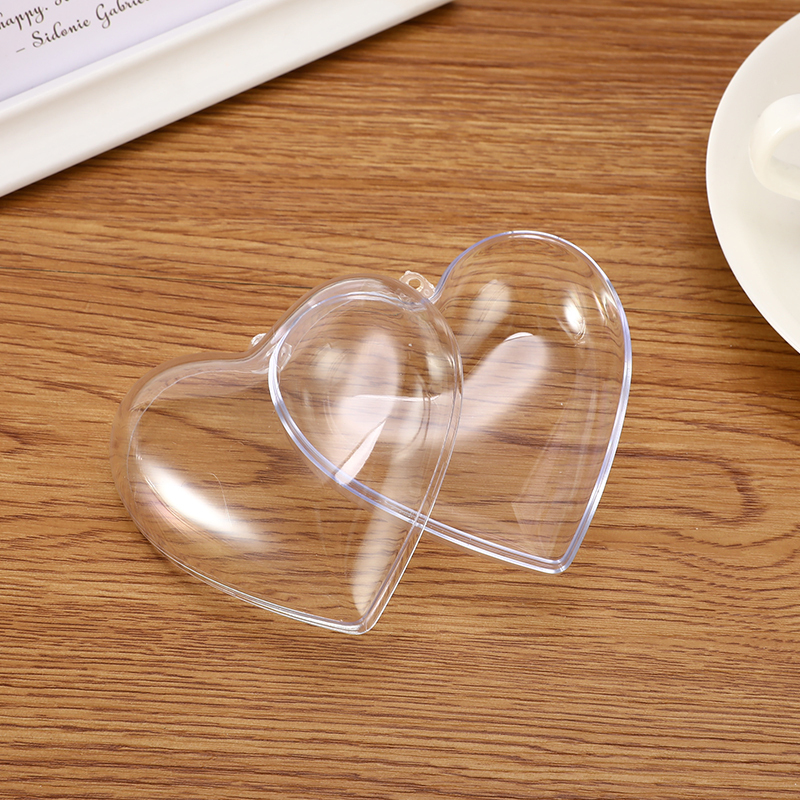 1/2 Set 3D Bath Bomb Mold Heart Shape DIY Clear Plastic Bath Bomb Mould Acrylic Mold Bath Accessories DIY Chrisemas Xmas