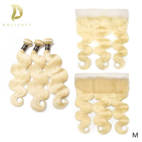 613 blonde bundles with frontal brazilian hair weave 3 4 Body Wave bundles human remy natural hair extensions 30 inch long