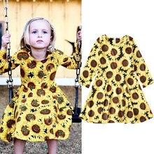 2020 novo design boutique remake vestido moda manga longa meninas vestido primavera outono poliéster algodão crianças roupas