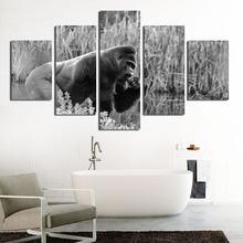Картина на холсте «орангутан в серых сорняках» настраиваемый