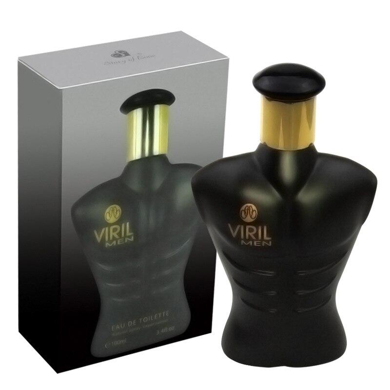 Glass Bottle Eau De Toilette 100ml Viril Men Perfume Long Lasting Ocean Woody Body Spray Male Fragrance Anti Odor Perfum