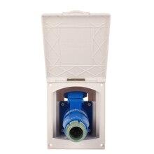 Caravan Motorhome Mains Hook Up Inlet Socket Plug Waterproof External Mains Socket Plug RV Camper Accessories Goods