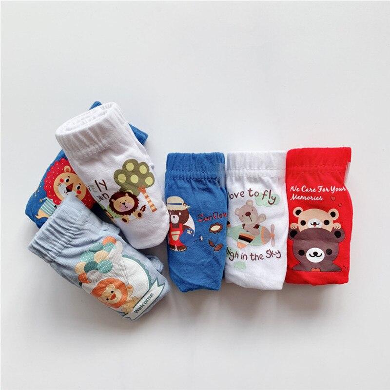 Children's Underwear Cotton Boy Underwear Cotton Triangle Cartoon Underwear Kids Shorts 2-6 Years