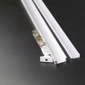 20inch 50cm flat U type 7mm height slim led aluminium profile ,12mm 5V 12V 24V Strip channel ,tape housing with diffuser(China)
