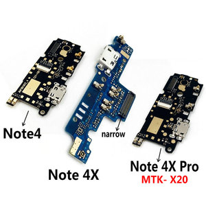 New Microphone Module+USB Charging Port Board Flex Cable Connector Parts For Xiaomi Redmi Note 4 4X 4XPro Replacement