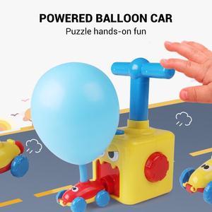 Image 3 - חינוך מדע ניסוי צעצוע אינרציה כוח בלון מכונית צעצוע פאזל כיף כוח האינרציה רכב בלון צעצועים לילדים מתנה