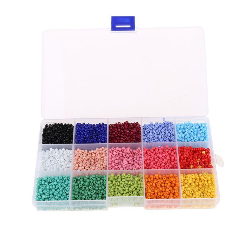 Perles de riz en verre 3mm perles en vrac multicolores adaptées à la mode bricolage livraison directe Support