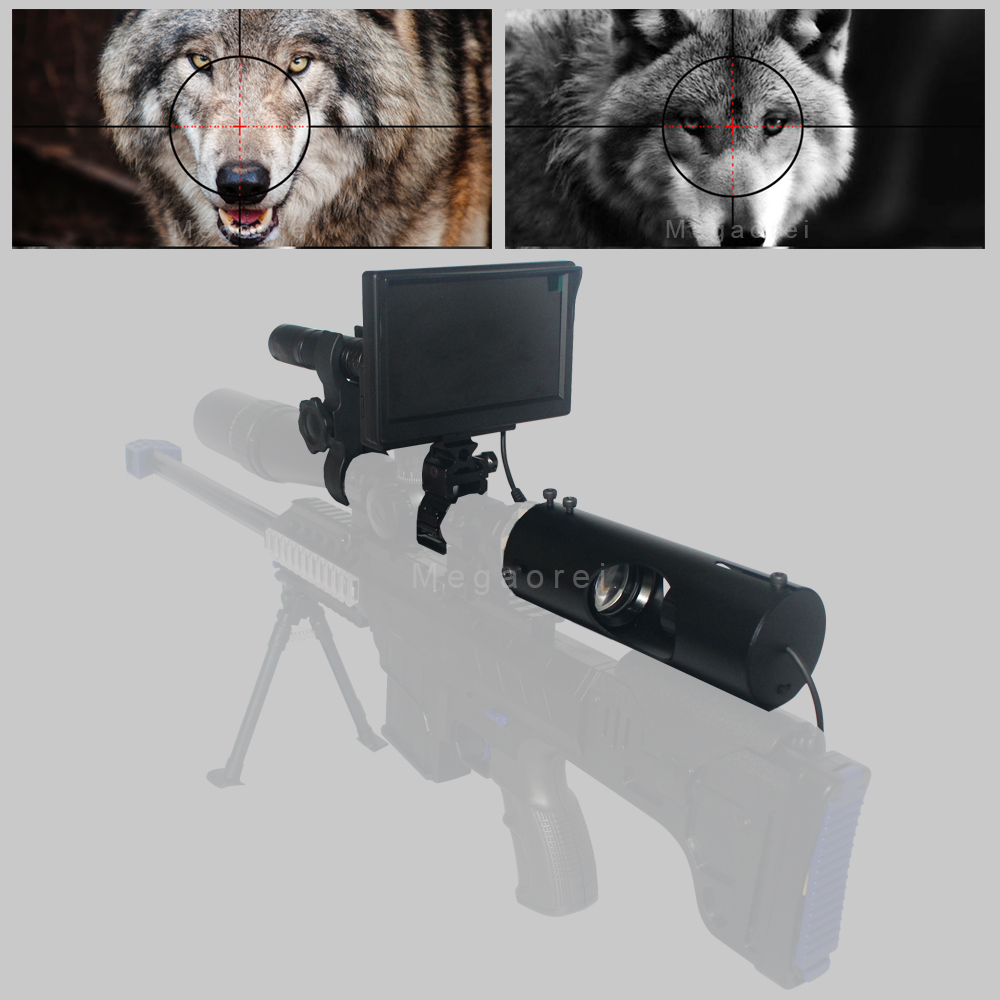 Hot Newest Hunting Optics Sight Scope Infrared Night Vision Riflescope With Laser Infrared Flashlight And Monitor