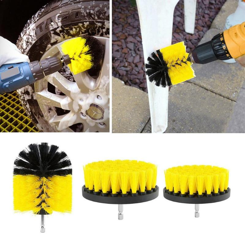 12pcs Car Wash Electric Drill Brush Coche Auto Car Pressure Washer Scrub Pads Grout Power Drills Scrubber Cleaner Car Washer     - title=