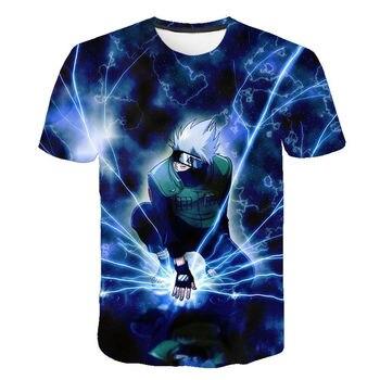 2020 verano nuevo Japón Anime Naruto Uchiha Sasuke Itachi camiseta de hombre efecto 3D/mujeres tapas niño niña niños Cool Tee Harajuku ropa