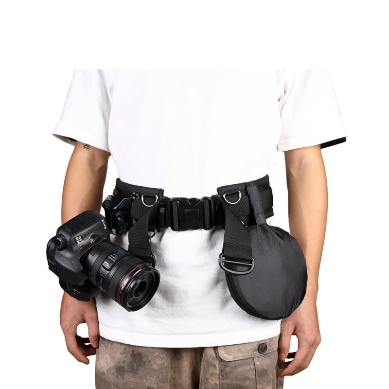 Outdoor Multi-function Photography Adjustable Waist Strap Waistband Belt With D-Rings For Hanging Tripod Camera Photography Acce