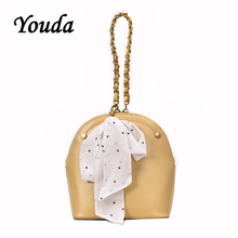 купить Youda Summer Fashion Simple Original Handbag Classic Sweet Retro Chain Strap Shoulder Tote Solid Color Portable Messenger Bag дешево