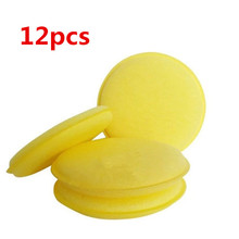 12pcs/Set Car Auto Wax Polish Foam Sponge Hand Soft Wax Yellow Sponge Pad Waxing Towel Sponge Brush Car Paint Care Cleaning