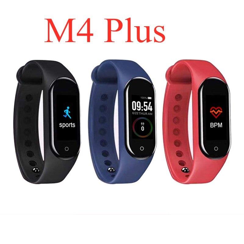 M4/M4Plus inteligentny krokomierz kolorowy ekran inteligentna bransoletka do pomiaru ciśnienia krwi licznik kroków pulsometr Unisex Watch