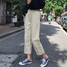 Jeans Mujer moda elegante todo fósforo de alta calidad estilo coreano mujer de diario encantador simple nuevo bolsillos tobillo longitud Retro