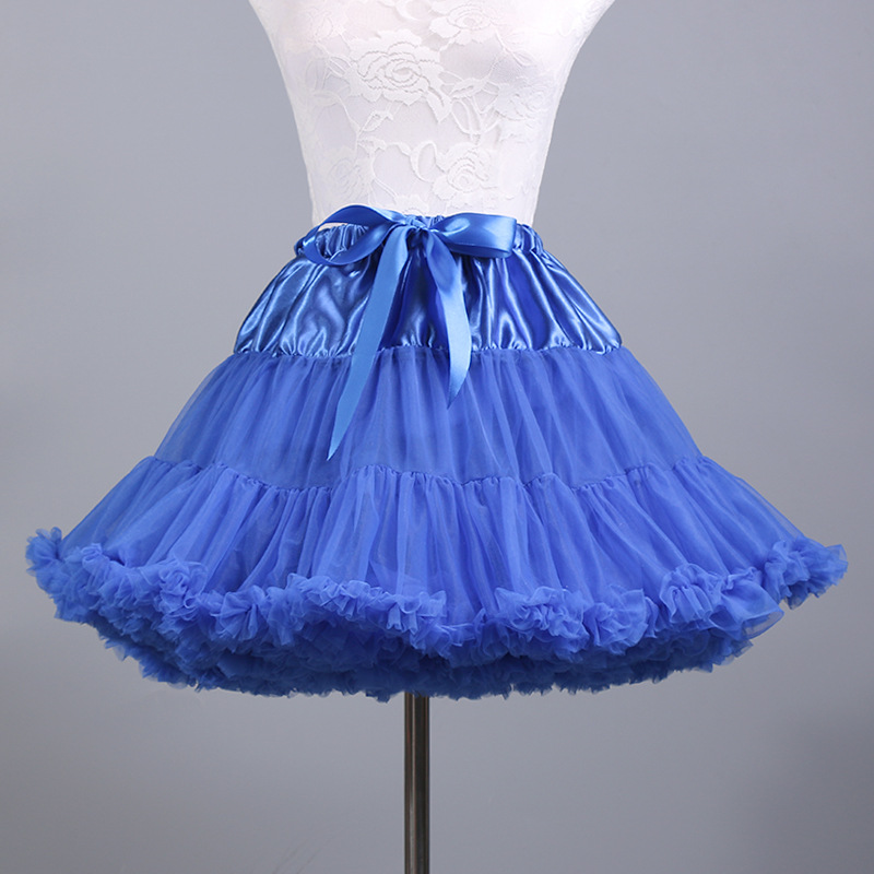 Adult Tutu Gauze Short Skirt Two-color Mix And Match Dance Skirt Violence Soft Girl Cosplay Double Color Crinoline