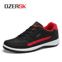 OZERSK 2020 Hot Sale Men Sneakers Fashion Casual Comfortable Men Shoes Leather Breathable For All Season Lightweight Shoes Men