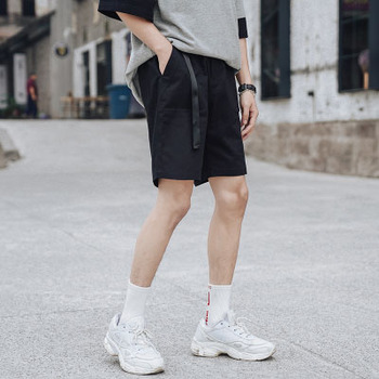 Summer new cropped trousers loose large size tether wild sports casual pants