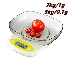 2 Style Kitchen Scales High Precision 7kg/3kg 0.1/1g LCD Digital Display Mini Scale Gram Weighing Scale for Kitchen Food Jewelry digital kitchen food scale 22lbs 10kg precision food scale lcd display tempered glass surface touch screen