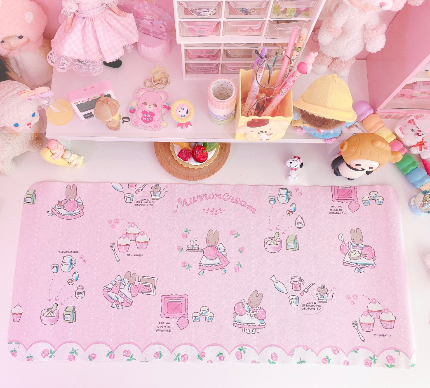 Kawaii Melody Sailor Moon Anti-hot Dish Pad Waterproof Oilproof Student Dormitory Table Mesa Protection Mats
