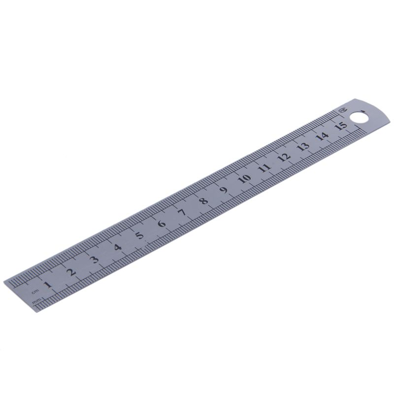 15cm 6 Inch Stainless Metal Ruler Measuring Tool