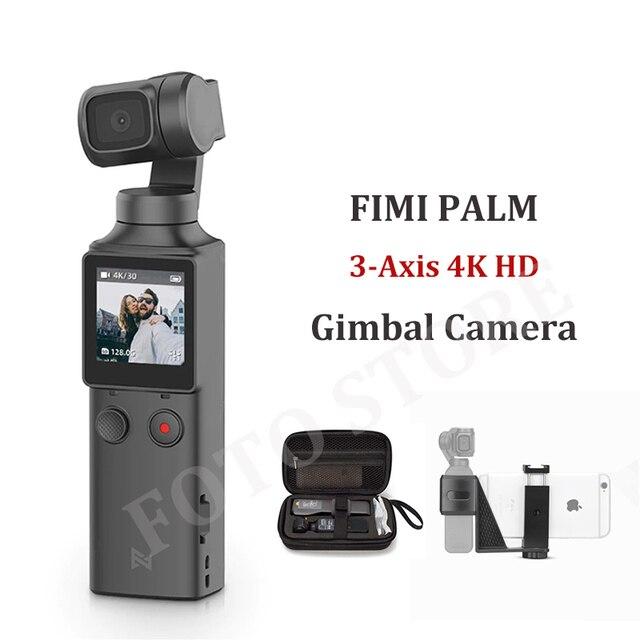 Câmera portátil do cardan do estabilizador 4k hd da câmera do cardan da ação de 3 eixos do bolso da palma de fimi para o smartphone de vlog