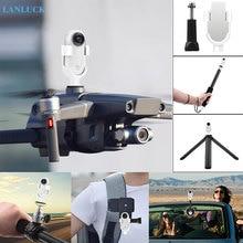 אביזרי עבור Insta360 ללכת פעולה ספורט מצלמה תרמיל הר מתאם קליפ אופני חצובה Selfie מקל מוט יניקה מחבר