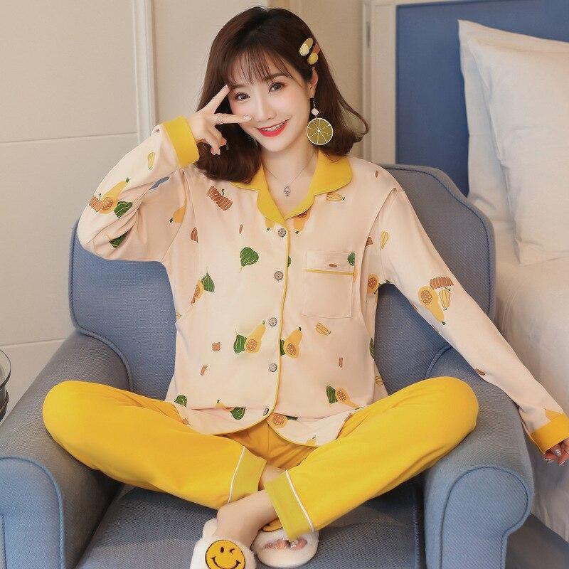 Cardigan Confinement Clothing Spring And Autumn Nursing Postpartum Set Nursing Clothes Pregnant Women Pajamas Tracksuit Pure Cot