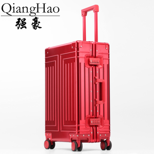Image 5 - QiangHao brand 100% Aluminum alloy material spinner travel suitcase laptop trolley hand luggage for travelling