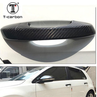 Carbon Fiber Auto Door Handle Knob Exterior Trim Covers For Volkswagen golf 6 Passat GranLavida Scirocco For Touareg 2010 2018