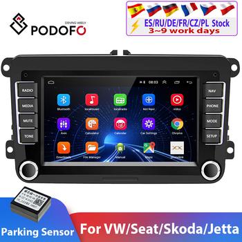 Podofo 2DIN-Odtwarzacz multimedialny samochodowy Android GPS radio do VW Volkswagena Golfa Passata Seata Skody Polo stereo tanie i dobre opinie CN (pochodzenie) podwójne złącze DIN 4*45W Android 8 1 JPEG 1024*600 1 4kg Bluetooth Wbudowany GPs Ładowarka Nadajnik FM