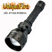 UniqueFire Outdoor LED Flashlight 1405 SFH 4715AS IR 850NM Invisible Light Night Vision Zoomable Lamp Torch for Night Hunting