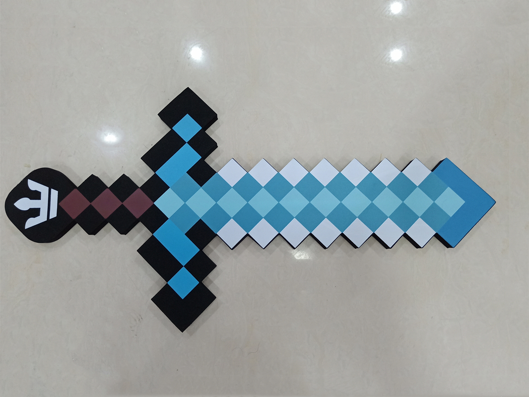 2019Newest Big Size Minecrafted Toys Minecrafted Foam Diamond Sword Pickaxe EVA Model Toys Gift Toys For Kids Birthday Christmas 1