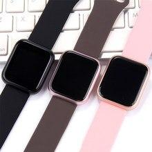 Lerbyee P80 spor akıllı saat tam ekran dokunmatik su geçirmez sıkılaştırma bandı Bluetooth nabız monitörü pedometre Smartwatch 2020