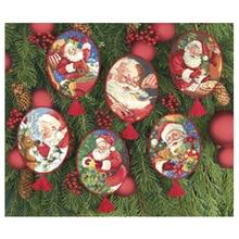 למעלה איכות יפה נספר צלב סטיץ ערכת קישוט סנטה אב מתנת חג מולד עץ קישוטי דים 08755