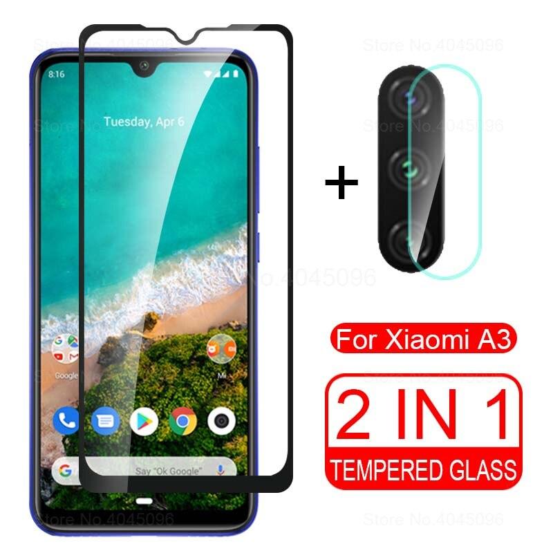 2 In 1 Protective Glass For Xiaomi Mi A3 Camera Back Cover For Xiomi A3 Mia3 Xiaomia3 Xiami A 3 3a Tremp Glasses Lens Case
