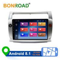 Bonroad 2.5D 9 Android 8.1 autoradio pour Citroen C4 c-triomphe c-quatre 2004-2009 voiture dvd gps navigation lecteur audio vidéo