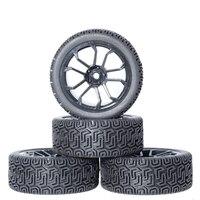 4 pces rc 1/10 pneus rodas hub 12mm hex para 1:10 hsp hpi axial scx10 traxxas Trx 4 trx4 tamiya hpi rc rali na estrada de pneus de carro rc|Peças e Acessórios|Brinquedos e hobbies -